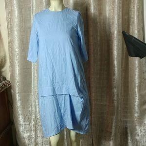 AFABLU Cotton Sea Blue Dress NEW